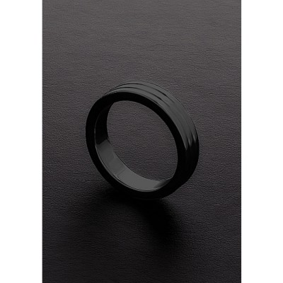 GOLDEN BLACK RIBBED C-RING (10X50MM)