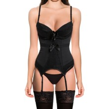 CORSET DOUBLE LACED NEGRO