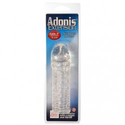 ADONIS DE SILICONA EXTENSION PARA EL PENE DE CALIFORNIA EXOTIC NOVELTIES COLOR TRANSPARENTE
