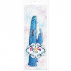 VIBRADOR DOBLE DELGADO DE LUJO 4PLAY COLOR AZUL
