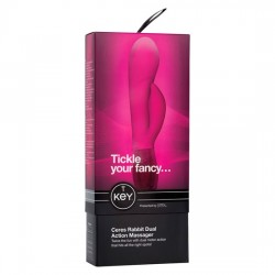 VIBRADOR RAMPANTE RABBIT KEY CERES DUAL DE JOPEN COLOR ROSA