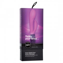 VIBRADOR RAMPANTE RABBIT KEY CERES DUAL DE JOPEN COLOR LAVANDA