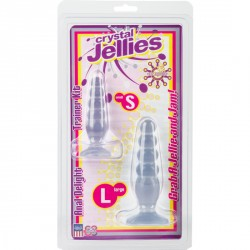 KIT ANAL TRANSPARENTE CRYSTAL JELLIES CON DOS PLUG