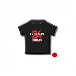"DIVERTIDA CAMISETA ""SEXVICIO 24 HORAS"" COLOR ROJA"