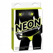TANGA VIBRADOR Y PASTIES COLORES NEON DE PIPEDREAM COLOR AMARILLO