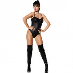 SEDUCTOR BODY CON EFECTO WETLOOK COLOR NEGRO