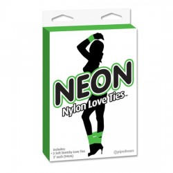 BONDAGE CINTAS NEON NYLON LOVE TIES DE PIPEDREAM COLOR VERDE
