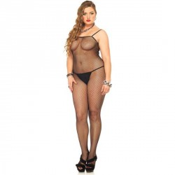 SENSUAL BODY ENTERO DE RED CON FINOS TIRANTES DE LEG AVENUE