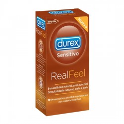 PRESERVATIVOS DUREX SENSITIVO REAL FEEL 10 UDS