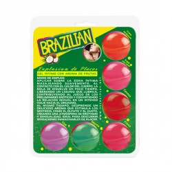 SECRET PLAY BRAZILIAN BALLS VARIADAS GEL INTIMO AROMA FRUTAS