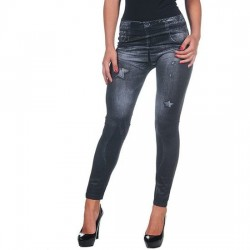 INTIMAX LEGGING ESTRELLAS BLACK AND GREY