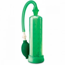 BOMBA DE ERECCION DE SILICONA PUMP WORX DE PIPEDREAM COLOR VERDE