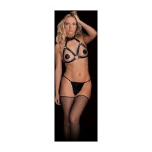 CHARA - BEAUTIFUL BREAST HARNESS - NEGRO